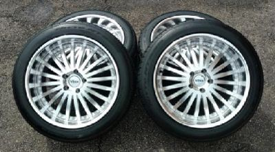 Voxx Borsa, Nitto NT555, TPMS Sensors & McGard Lug 20? Rim & Tire Set