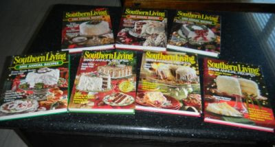 7 Southern Living Annual Recipes Hardcover Book Lot 1995 1998 1999 2001 2003 2004 2006