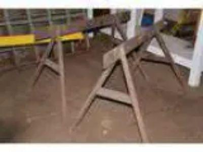 Vintage Metal Saw Horses Table Base (Baltimore)