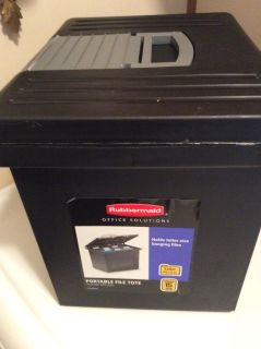 RUBBERMAID OFFICE SOLUTIONS PORTABLE FILE TOTE