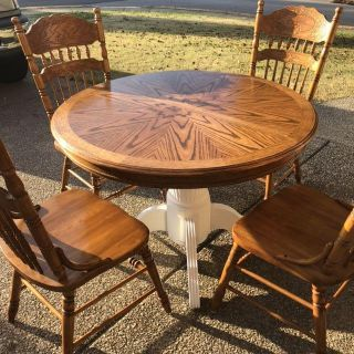 Restored kitchen / dining table and 4 chairs