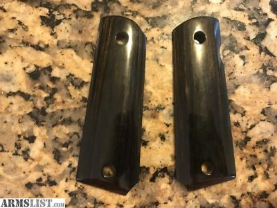 For Sale: Ebony wood 1911 grips for full size