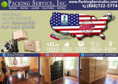 Packing Service, Inc Fairfield - CT, Loading, Proffesional, Packing