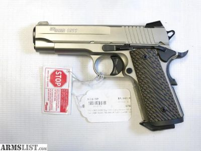 For Sale: Sig Sauer 1911 Carry Nickel .45ACP NEW