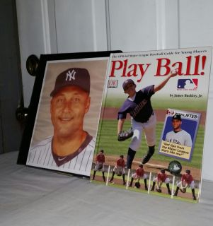 Derek Jeter 8 by 10 on notebook with 174 great star cards and 48 page Official Major League Baseball guide for young players. Info below.