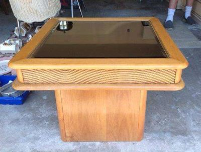 Wood Side End Table Or Small Coffee Table
