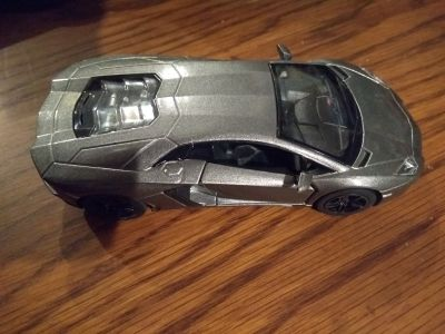 Silver Lamborghini Car - Heavier Weight - Excellent Condition! See all Pics!