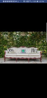 Victorian couch and chair- wedding decor