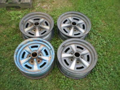 PONTIAC RALLY II 2 WHEELS RIMS GTO GRAND PRIX GP LEMANS FIREBIRD TRANS AM 15X6