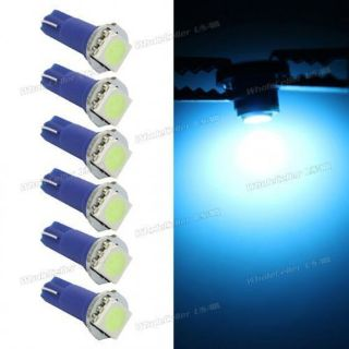 Buy 6pcs T5 Instrument panel Cluster indicator Dashboard Led lamp Ice Blue for Ford motorcycle in Milpitas, California, United States