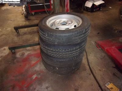 185 / 65 / 15 Tires on 4 lug wheels NEW