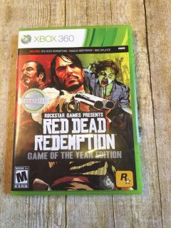 Xbox 360 red dead redemption game New opened it never played too old for my son $8
