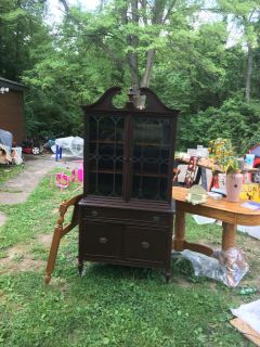 Walnut China hutch!!!