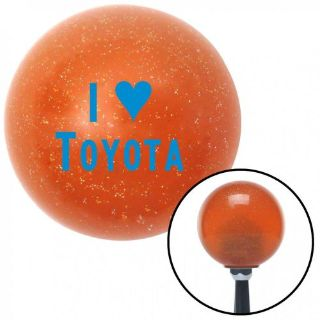 Sell Blue I <3 TOYOTA Orange Metal Flake Shift Knob with 16mm x 1.5 Insertstyle motorcycle in Portland, Oregon, United States, for US $29.97