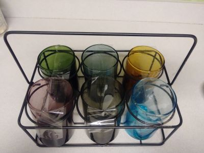 Beautiful set of glasses. Gorgeous colors, great for your tea or cold lemonade.