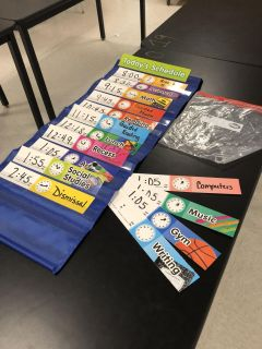 Class organizer with cards