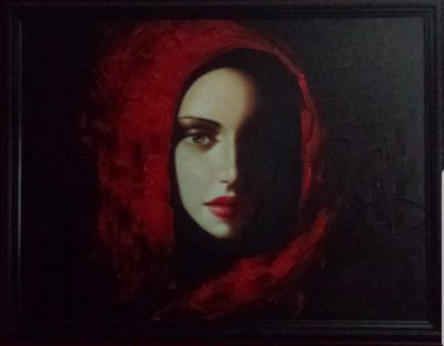 Gothic Red Riding Hood Paintings