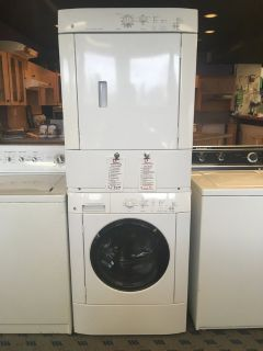 GE Washer and Dryer Stacked Set / Pair - USED