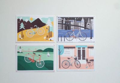 Framed Ride Bike Bicycle Artwork Mix & Match Dream
