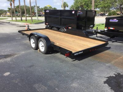 2019 Triple Crown 7X18 Equipment with Stowaway Ramps Utility Trailers Fort Pierce, FL