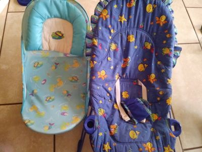 Baby bouncer and bath seat
