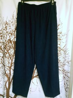 Alfred Dunner brand super soft Navy pants women's plus size 20