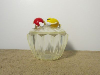 Mars M&Ms Red & Yellow Characters Plastic Collectable Candy Dish