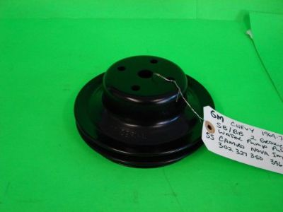 Find 1969-74 GM Chevy SB/BB Water Pump Pulley 2 Groove 351680 SS Camaro Nova Impala motorcycle in Sealy, Texas, United States, for US $34.99