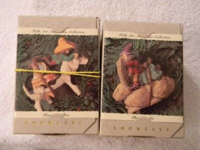 2 hallmark keepsake ornament folk art americana collection