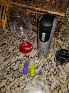 Electric wine opener/wine glass/bottle stoppers