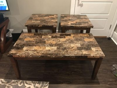 3 piece coffee/end tables set