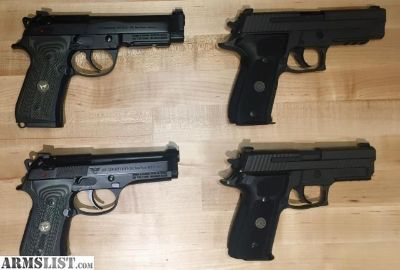 For Sale: Beretta/Wilson 92G & Sig Sauer P229 and P226 Legion