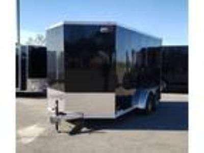 2019 RC Trailers 7x14TA Aluminum Enclosed 7' Int Cargo - Black