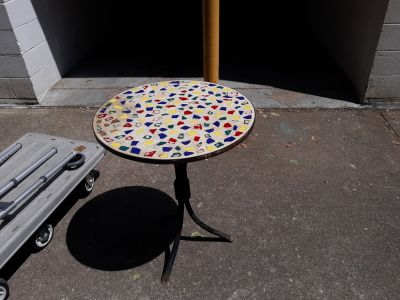 Stone colorful table