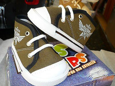 toddler canvas-high top-tennis shoes-military green-new in box