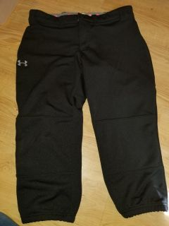 Under armour medium softball pants like new