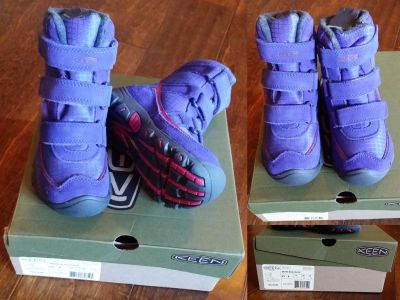 *NEW* KEEN ORIENT BLUE/CERISE TODDLER SIZE 8 VELCRO SNOW BOOTS ($30)
