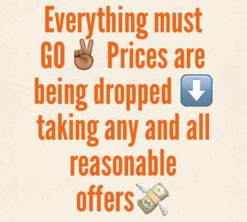 Purging! Offer your best price on any of my items!