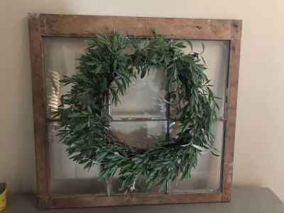 Large window and wreath