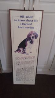 Puppy dog wall hanging quotes. measures 12 x 36.25 $20 firm