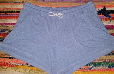 Baby blue cotton stretchy shorts