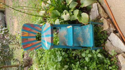 Antique chair step stool