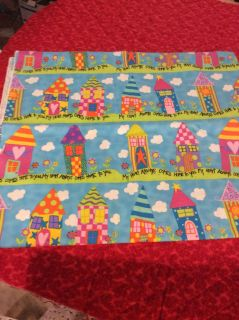 Cotton fabric 2 yards x 42 My heart comes hometo you by Dreaming Bear Designs/Dori Vogel