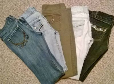 5 Used jeans