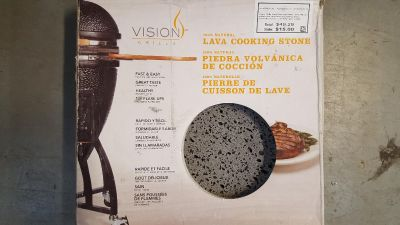 Vision grills lava cooking Stone heat deflector with stainless steel bracket