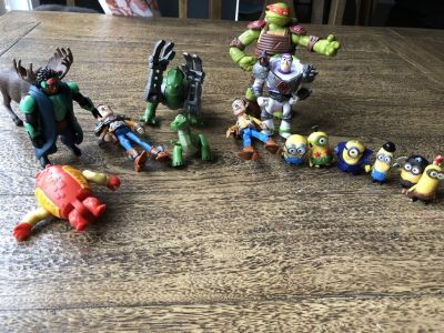Action Figures: Toy Story, Minions, etc.