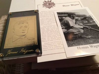 Honus Wagner Baseball Card--Golden Legends of Baseball