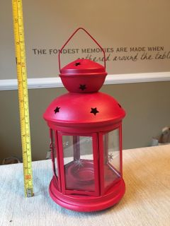 Adorable red lantern from Ikea