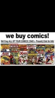 buying comic books and comic style magazines