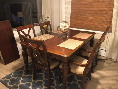 Kitchen table with matching buffet